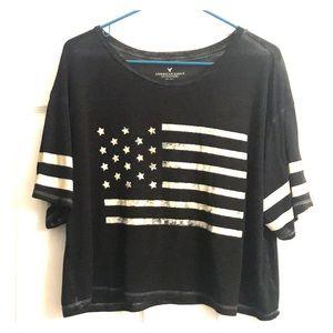 AEO Boxy Flag T-Shirt